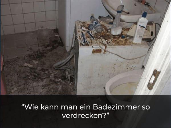 Badezimmer Mietnomaden