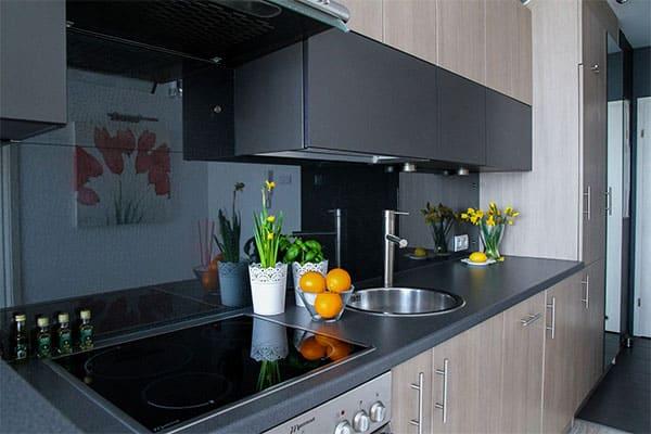 Küche dekoriert für Hausverkauf
